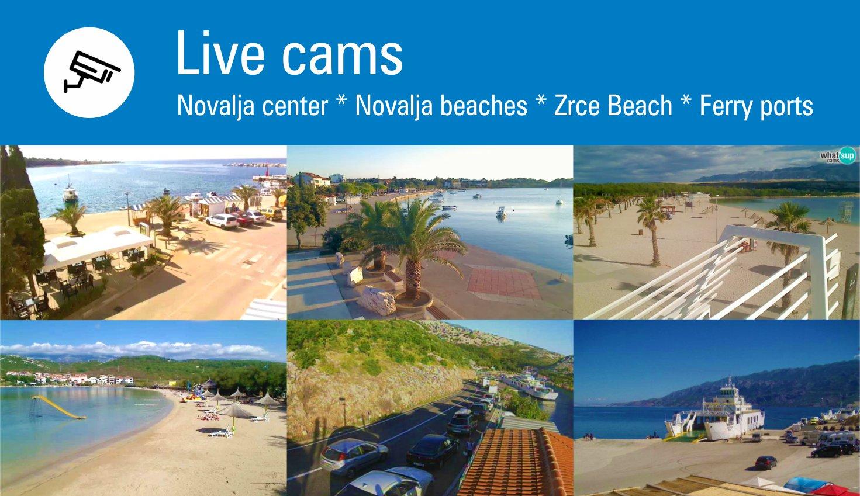 Novalja live camera webcams from novalja center zrce for Live camera website